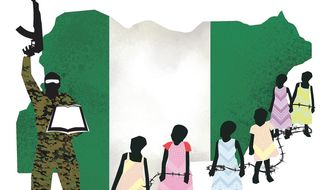 Illustration on the situation in Nigeria by Linas Garsys/The Washington Times