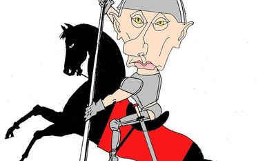 Illustration on Vladimir Putin by Graff, Dagbladet, Oslo, Norway