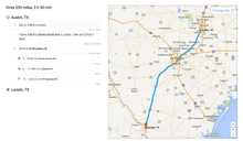 Texas Sen. Ted Cruz tweeted Google Map directions to border towns from President Obama's planned fundraiser stops in Austin and Dallas. (Ted Cruz via Twitter)