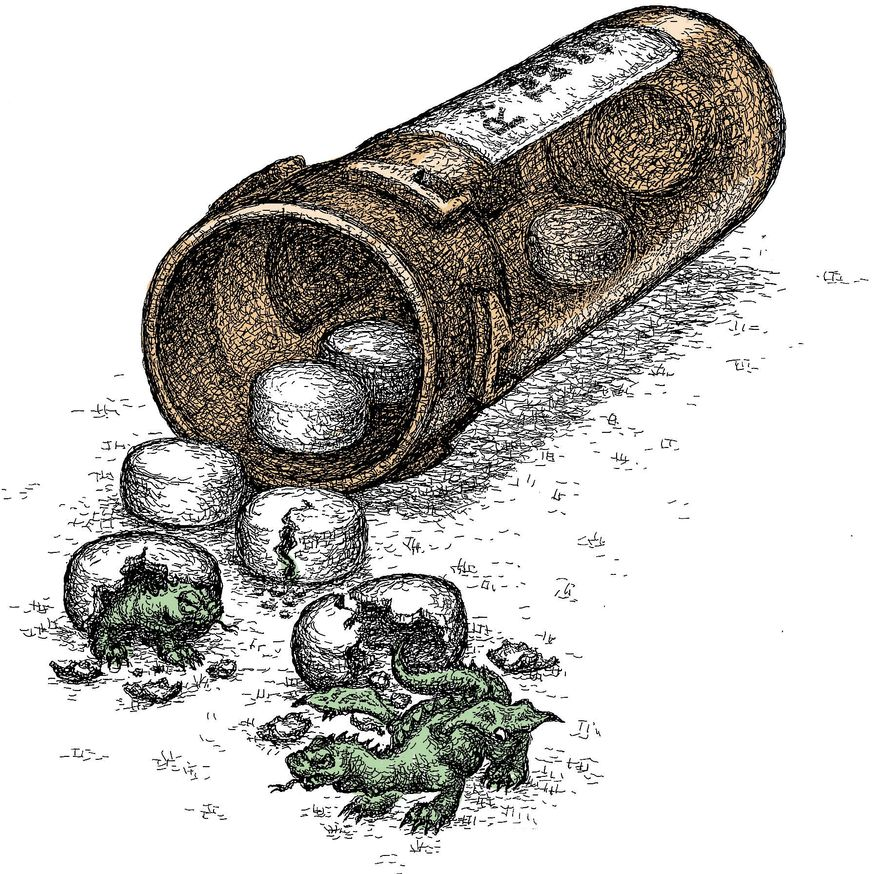 Illustration on FDA failures to protect the public by Kevin Kreneck/Tribune Content Agency