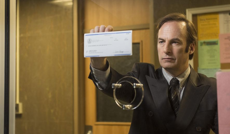"""This photo released by AMC shows Bob Odenkirk as Saul Goodman in a scene from """"Better Call Saul,"""" slated to premiere in February. (AP Photo/AMC, Ursula Coyote)"""