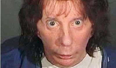 PHIL SPECTOR - In this police booking photo released by the Los Angeles County Sheriff's Dept. showing Rock music producer Phil Spector after he was convicted Monday April 13, 2009, of second-degree murder in the shooting death of actress Lana Clarkson at his mansion in 2003. (AP Photo/Los Angeles County Sherriff's Department)