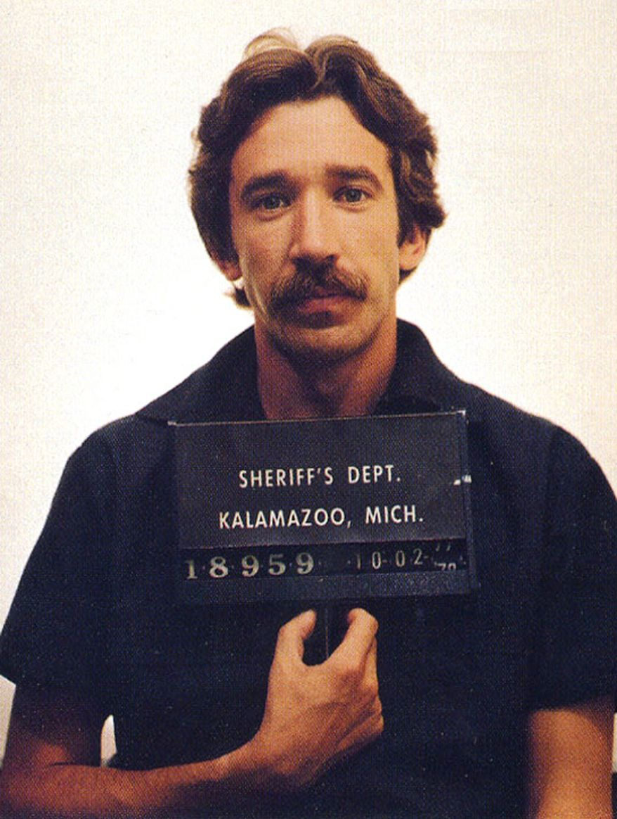 TIM ALLEN - Actor Tim Allen is shown in this 1979 mugshot from the Kalamazoo, Mich. sheriff's department after being arrested for dealing cocaine. (AP Photo/ho)
