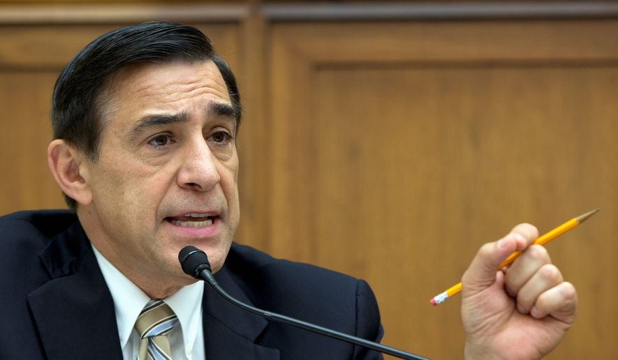 """Rep. Darrell Issa, California Republican, called the actions of U.S. Patent and Trademark Office official Deborah Cohn """"appalling and unbefitting a federal official"""" when she used her influence to find a job for a relative's live-in boyfriend, and then threatened to sue when the government was about to make her case public. He has demanded that Commerce Secretary Penny Pritzker take """"immediate action"""" to discipline Ms. Cohn. (Associated Press)"""
