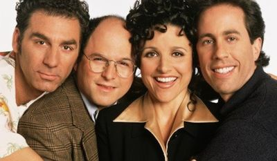 """""""Seinfeld"""" creators were willing to push the envelope on topics like sponge-worthiness and remaining master of one's domain, but it turns out personal gun ownership was too controversial a topic for the iconic '90s show about nothing. (NBC Universal)"""
