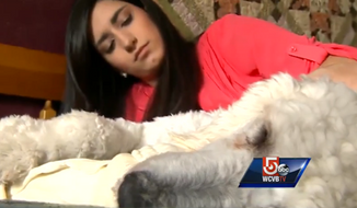 "TJ Maxx says it ""deeply regrets"" an incident last week in which 19-year-old Sydney Corcoran, who survived the 2013 Boston Marathon bombings, was forced to leave a New Hampshire store because of her service dog, Koda. (WCVB)"