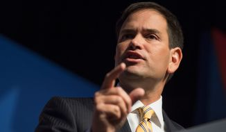 """""""What I think would have prevented that from happening is sufficient border security on the ground,"""" Sen. Marco Rubio says. (Associated Press)"""