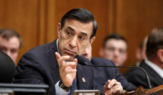 Rep. Darrell Issa, California Republican, Wednesday played a 2012 recording of then-Labor Secretary Hilda Solis asking someone to attend political fundraiser. Some say the call is a violation of the Hatch Act, which restricts the political activities of some federal government executive branch employees. (Associated Press)