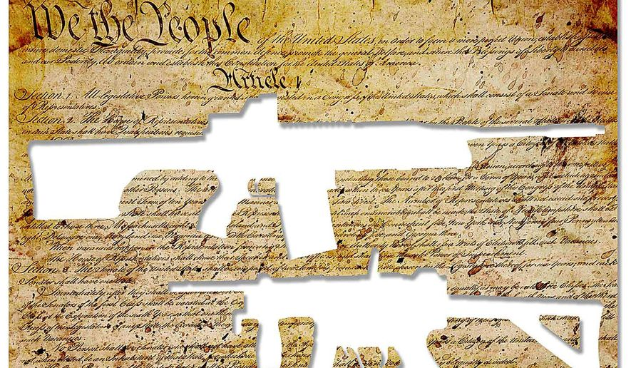 Lost Gun Rights Illustration by Greg Groesch/The Washington Times