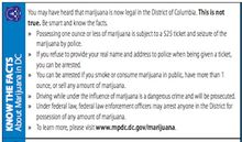 D.C. police plan to hand out cards with information on the city's new marijuana laws.