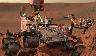 ** FILE ** A NASA artist's rendering of the Mars Rover, Curiosity. (Associated Press)