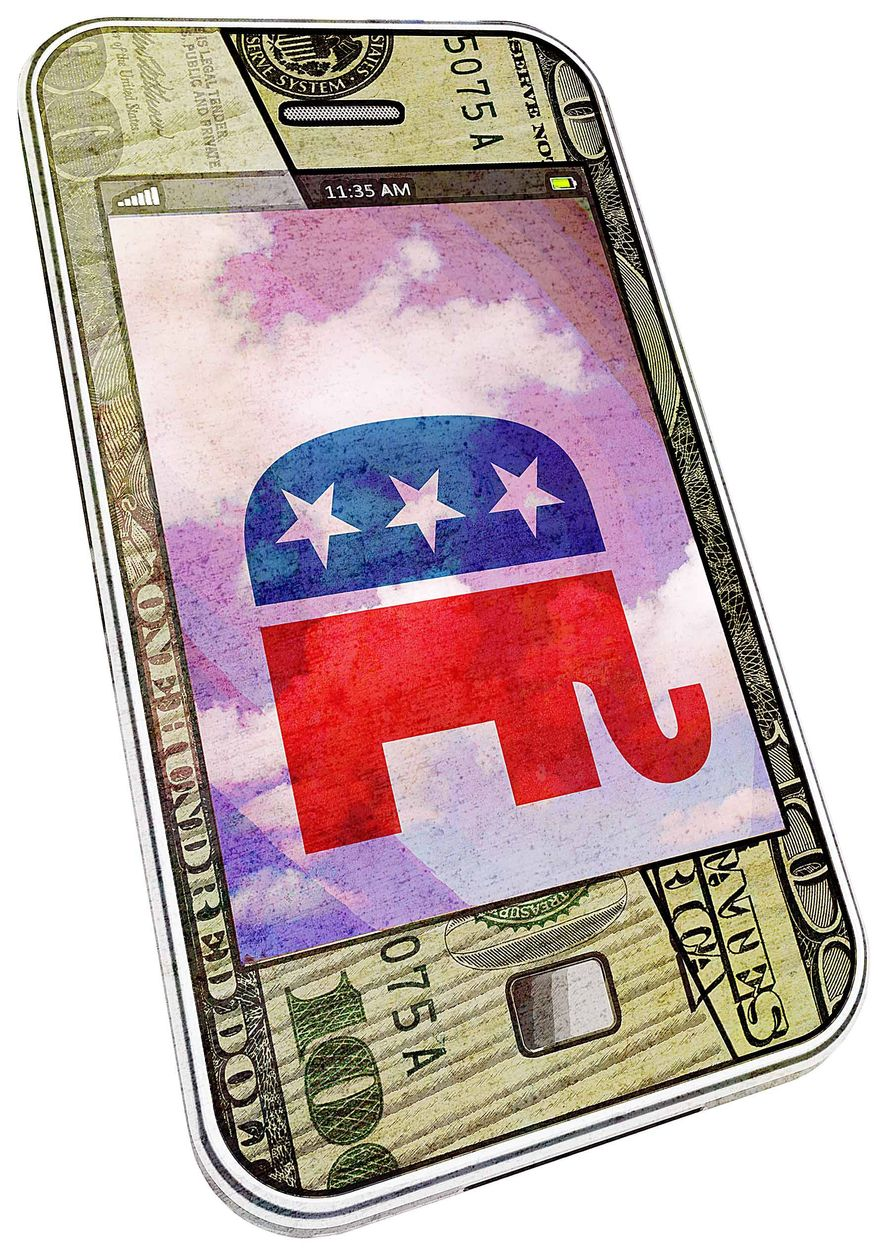 Illustration on GOP campaign strategies by Greg Groesch/The Washington Times