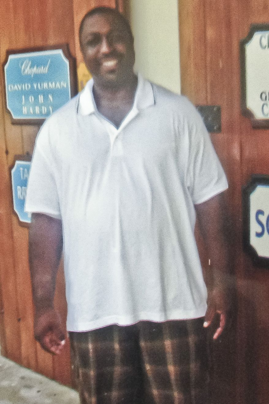 This undated family photo provided by the National Action Network, Saturday, July 19, 2014, shows Eric Garner. Garner was confronted by police trying to arrest him on suspicion of selling untaxed, loose cigarettes on a Staten Island sidewalk, authorities said. The 6-foot-3, 350-pound Garner became irate, denying the charges and refusing to be handcuffed before one of the officers placed him in what Police Commissioner William Bratton said appeared to be a chokehold, according to partial video of the encounter obtained by the New York Daily News. (AP Photo/Family photo via National Action Network)