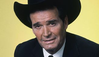 "FILE - Actor James Garner is shown in character in this April 7, 1982 file photo. Actor James Garner, wisecracking star of TV's ""Maverick"" who went on to a long career on both small and big screen, died Saturday July 19, 2014 according to Los Angeles police. He was 86. (AP Photo/NBC, File)"