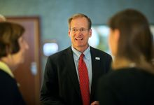 Georgia Republican Senate candidate Rep. Jack Kingston, an 11-term congressman, heads into Tuesday's primary runoff at a rally in Atlanta. (associated press photographs)
