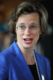 Senate candidate Michelle Nunn, daughter of former Sen. Sam Nunn and former CEO of George H.W Bush's Points of Light Foundation is hoping to snag a Senate seat for Democrats in November.