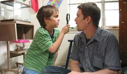 "Ellar Coltrane and Ethan Hawke in ""Boyhood"""