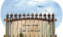 Immigration Fence Illustration by Greg Groesch/The Washington Times