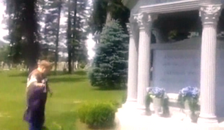 A YouTube video that shows a Cleveland Browns fan urinating on the grave of former Baltimore Ravens owner Art Modell has outraged the social media world. (WJZ)