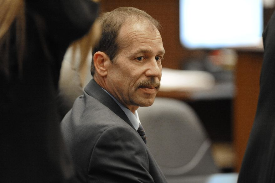 Theodore Wafer sits in court at his second-degree murder trial in Detroit on Wednesday July 23, 2014.   Wafer isaccused of second-degree murder in the shooting death of Renisha McBride on the front-porch of his Dearborn Heights, Mich., home.(AP Photo/Detroit News, David Coates)  DETROIT FREE PRESS OUT; HUFFINGTON POST OUT