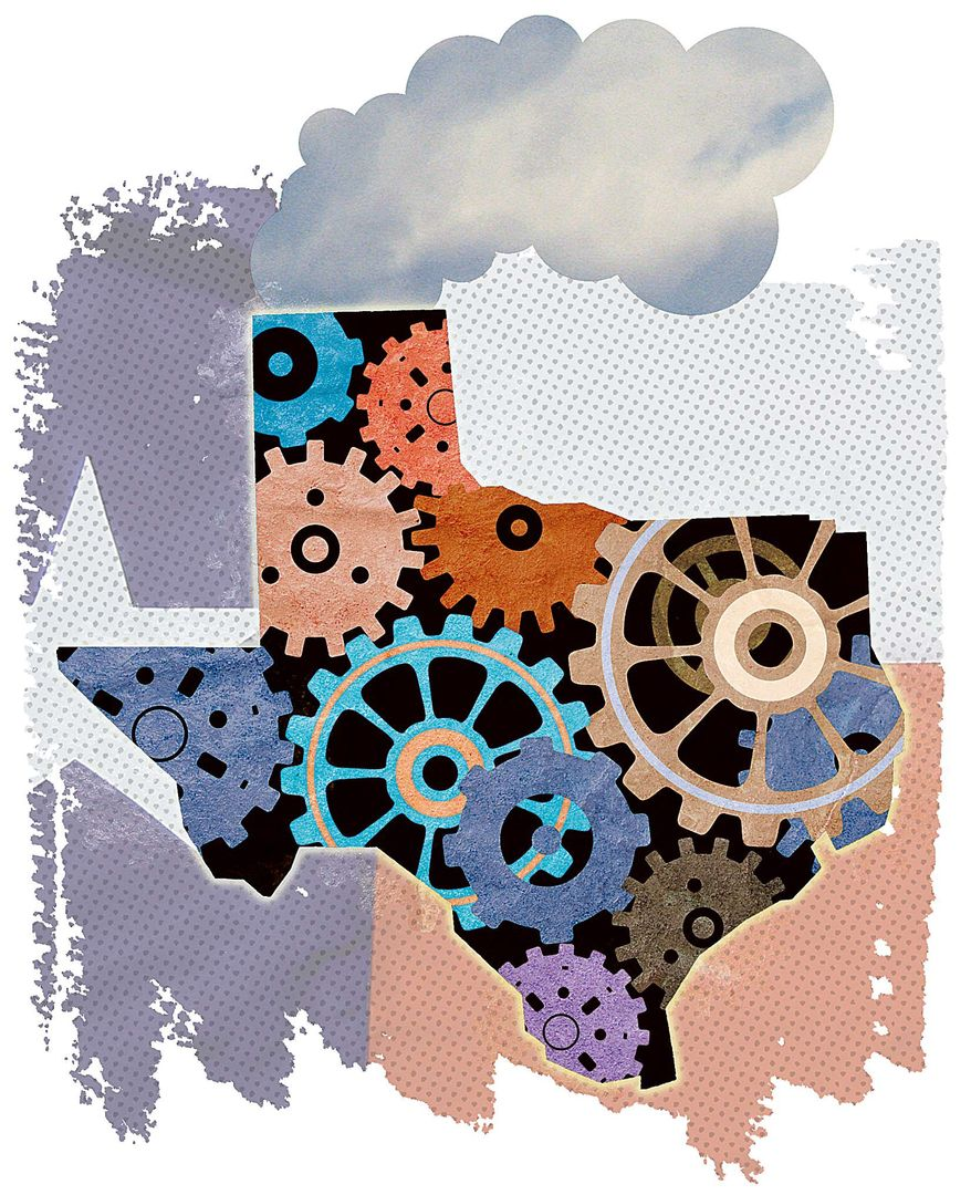 Texas Prosperity Illustration by Greg Groesch/The Washington Times