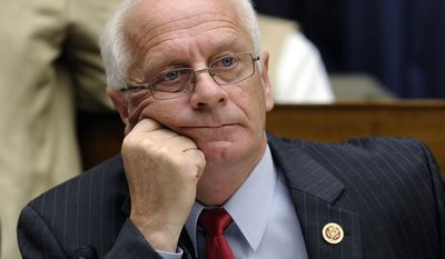 **FILE** Rep. Kerry Bentivolio, Michigan Republican, waits for the start of a during a joint hearing with the House Natural Resources Committee and the House Oversight and Government Reform Committee on Capitol Hill in Washington, on Oct. 16, 2013. The hearing was looking at who was to blame for the closure of national parks because of the current government shutdown. (Associated Press)