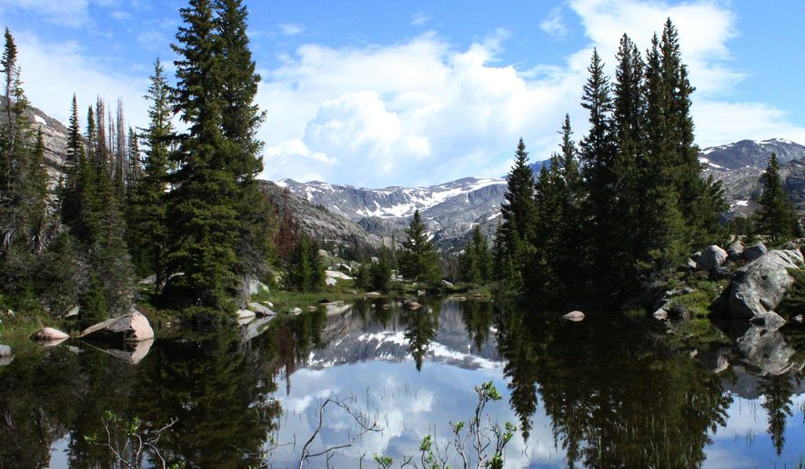 The Cloud Peak Wilderness, located in Bighorn National Forest in Wyoming, became official wilderness 30 years ago under the Wyoming Wilderness Act. The wilderness, in this photo, date not knwon, has more than 100 lakes, many filled with trout. (AP Photo/Casper Star-Tribune, Christine Peterson)