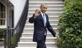 FILE - This July 22, 2014, file photo shows President Barack Obama as he departs the White House to board Marine One in Washington. The last time Republicans unleashed impeachment proceedings against a Democratic president, they lost House seats in an election they seemed primed to win handily. Memories of Bill Clinton and the campaign of 1998 may explain why Speaker John Boehner and the current GOP leadership want no part of such talk now. (AP Photo/J. Scott Applewhite, File)