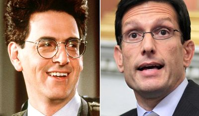 Ghostbuster Egon Spengler (Harold Ramis) and House Majority Leader Eric Cantor of Va..