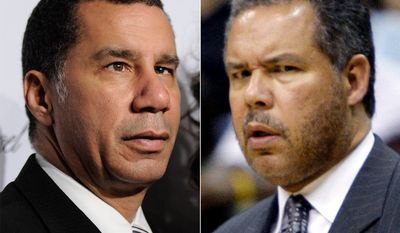 Former Governor of New York David Paterson and former Washington Wizards' interim coach Ed Tapscott.