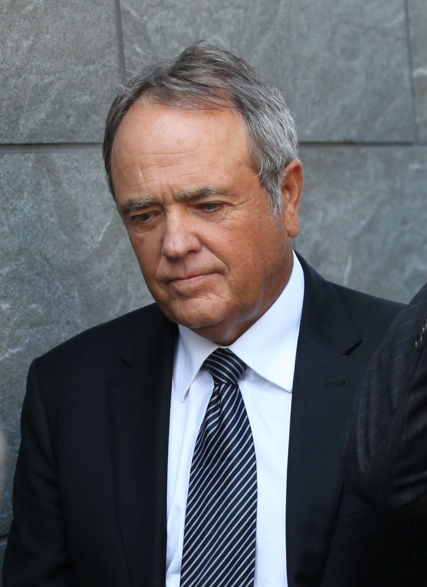 patron: Jonnie Williams leaves federal court in Richmond after testifying on the third day of former Gov. Bob McDonnell and his wife Maureen's corruption trial. (Associated Press)
