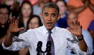 It's election time, which means President Obama's speech material includes references to God and jobs. (Associated press)