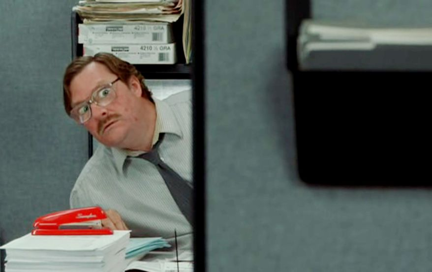 Scene from the movie Office Space.