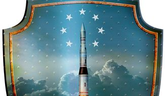 Missile Shield Illustration by Greg Groesch/The Washington Times