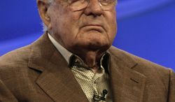 """FILE - Executive producer Robert Halmi, Sr., of """"Tin Man,"""" is seen during the NBC Press Tour in this July 17, 2007 file photo taken in Beverly Hills, Calif. Halmi died Wednesday July 30, 2014 in his New York City home at 90, said spokesman Russ Patrick. (AP Photo/Nick Ut, File)"""