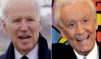 Vice President Joe Biden and 'The Price is Right' host Bob Barker.