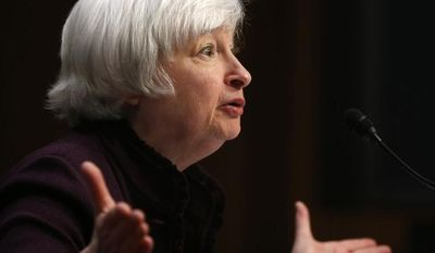 "Low short-term interest rates will be needed for a ""considerable time,"" Federal Reserve Chair Janet Yellen told the Joint Economic Committee of Congress on May 7. (AP Photo/Charles Dharapak)"
