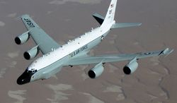 The RC-135V/W Rivet Joint reconnaissance aircraft. (U.S. Air Force)