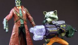 Hasbro's Battle FX Star-Lord and Big Blastin' Rocket Raccoon from the Guardians of the Galaxy collection (Photo by Joseph Szadkowski / The Washington Times)