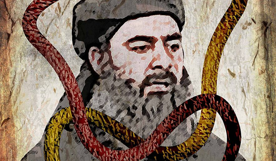 Doomed Ibrahim Caliphate Illustration by Greg Groesch/The Washington Times