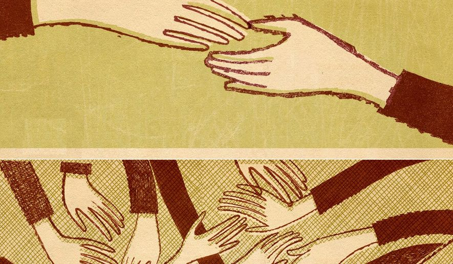 Illustration on giving by Donna Grethen/ Tribune Content Agency