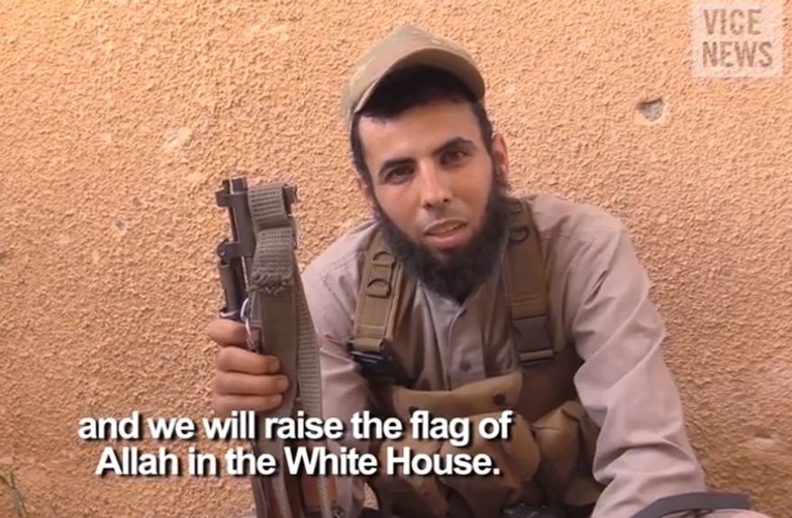 Abu Mosa, Islamic State Press officer. (Image: YouTube, Vice News)
