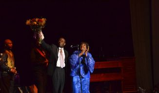 Gospel music icon Shirley Caesar at the Lincoln Theatre in Washington, D.C., with Armstrong Williams, executive editor of American CurrentSee.