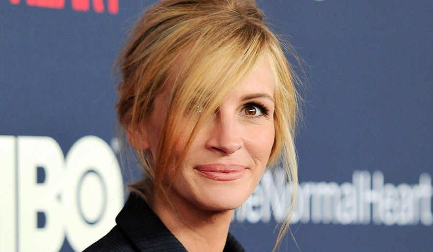 """This May 12, 2014 file photo shows actress Julia Roberts at the premiere of HBO Films' """"The Normal Heart"""" at the Ziegfeld Theatre in New York. (Photo by Evan Agostini/Invision/AP, File)"""