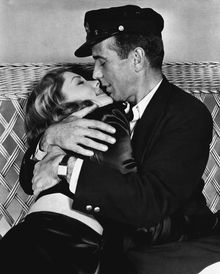 """Humphrey Bogart and Lauren Bacall were a couple on-screen and off in """"To Have and Have Not"""" and other films. Miss Bacall died Tuesday. (Warner Brothers via Associated Press)"""