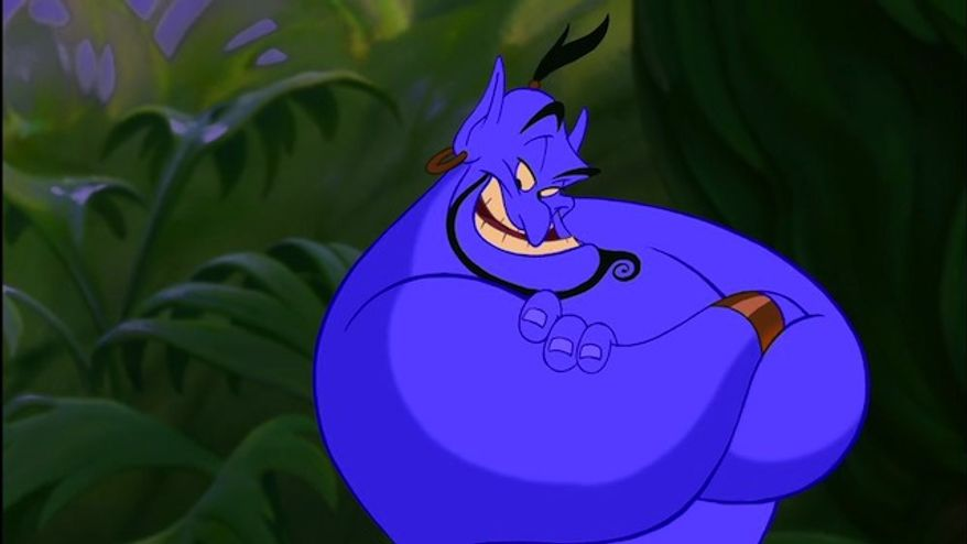 "7. The Genie in 1992's ""Aladdin"""
