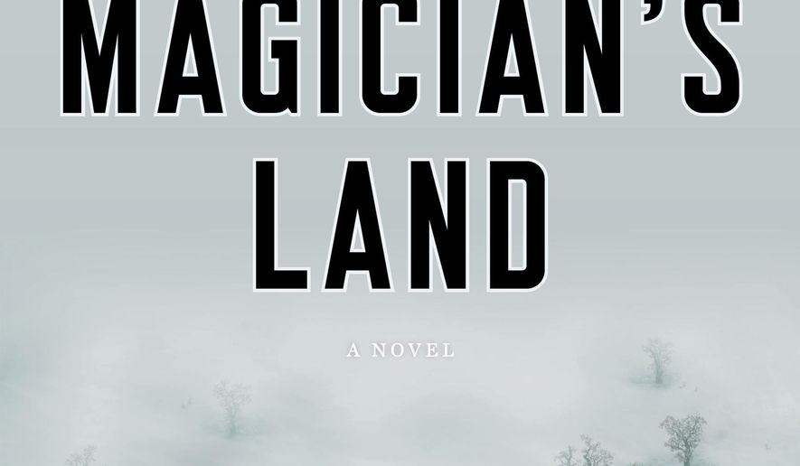 """This book cover image released by Viking shows """"The Magician's Land,"""" by Lev Grossman. (AP Photo/Viking)"""