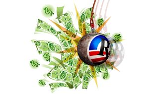 Obamacare Money Wrecker Illustration by Greg Groesch/The Washington Times
