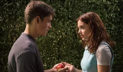 """Brenton Thwaites and Odeya Rush star in """"The Giver."""""""