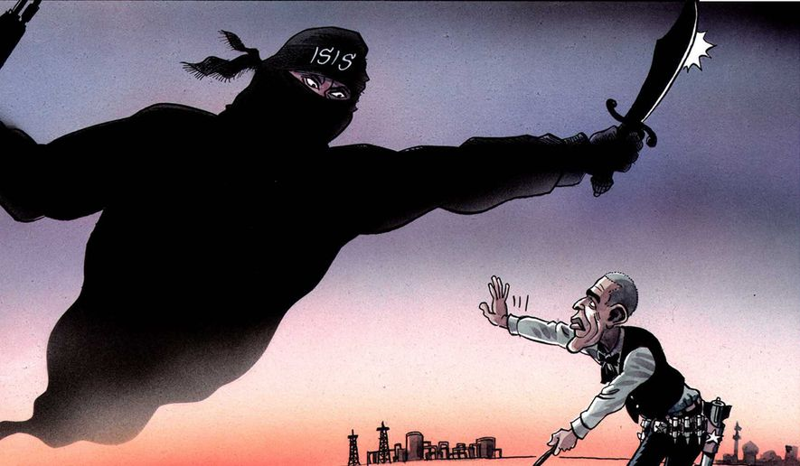 Obama and ISIS by Schrank, The Independent on Sunday, London, England